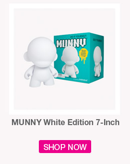 MUNNY White Edition 7-inch.  Shop Now